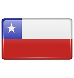 Flags Chile in the form of a magnet on vector image vector image