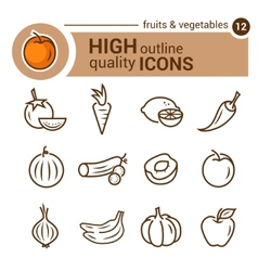 Food line icons vector