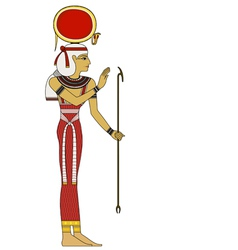 Isis isolated figure of ancient egypt god vector