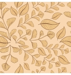 Leaves branches seamless pattern background vector image