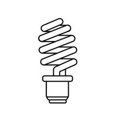 Line save energy light bulb vector