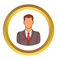 Man in suit avatar icon vector image