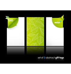 Nature gift cards vector
