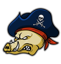 Pirate Hogs vector image vector image
