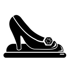 Princess shoes icon simple black style vector