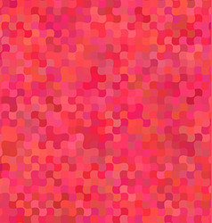 Red curved shape mosaic pattern background design vector