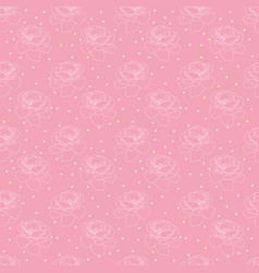 Seamless pink rose and confetti pattern flower vector
