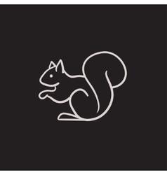 Squirrel sketch icon vector image