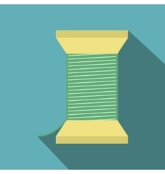 Thread bobbin flat icon vector image vector image