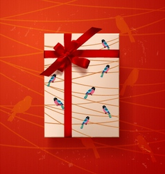 Valentines card gift box 4 vector image vector image