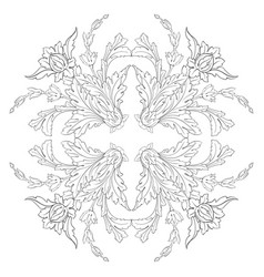 vintage baroque frame scroll ornament vector image vector image