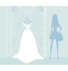 Wedding dress salon vector