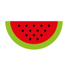 Watermelon fresh fruit icon vector