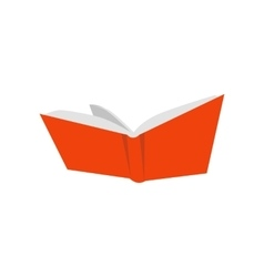 Open red book icon vector