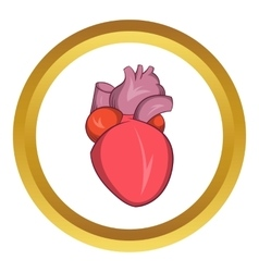 Heart human icon vector