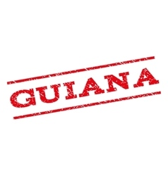 Guiana watermark stamp vector