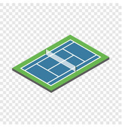 Tennis court isometric icon vector