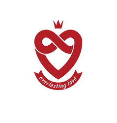 everlasting love concept symbol created with vector image