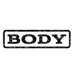 Body watermark stamp vector