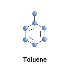Toluene or toluol aromatic hydrocarbon vector