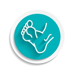Foot icon leg symbol human vector