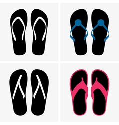Beach shoes vector