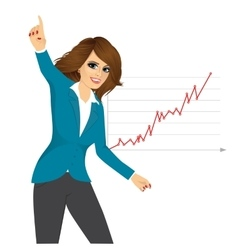 Woman happy for her success vector