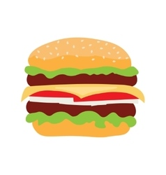 Cheeseburger fast food isolated icon vector