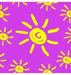 Seamless pattern with hand draw sun vector