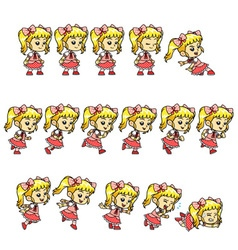 Candy girl game sprites vector