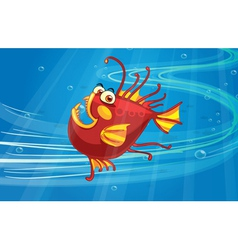 A scary fish vector image vector image