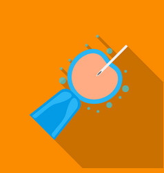 Artificial insemination icon in flat style vector