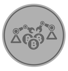 Robots bitcoin vector images 85 bitcoin mining robotics silver coin vector ccuart Gallery