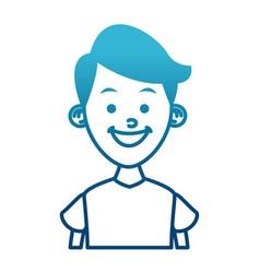 Boy smiling profile vector