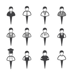 Business people icons set man vector