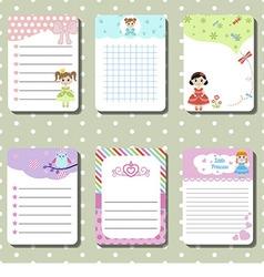 Cute creative cards vector image