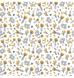 cute spring background seamless floral pattern vector image vector image