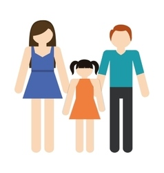 Family mother father daughter together members vector
