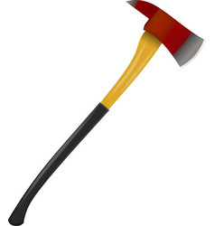 Fire ax on a white background vector image vector image