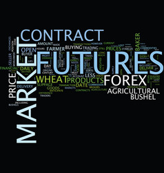 Forex versus futures text background word cloud vector
