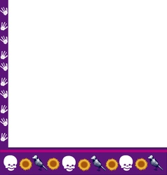 frame with skulls vector image vector image