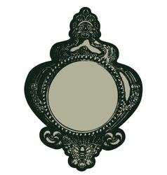gothic mirror vector image vector image