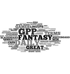 Gpp word cloud concept vector