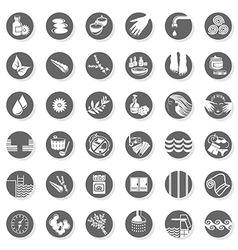 Health Spa icon set vector image vector image