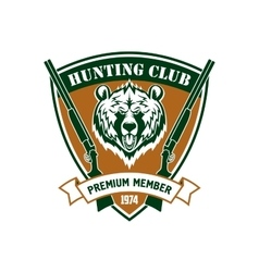 Hunting club member isloated shield sign vector