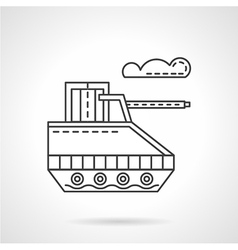 Military robot flat line icon vector