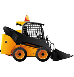 Mini bulldozer vector