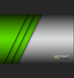 modern green abstract background overlay paper vector image vector image