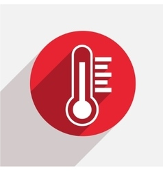 modern thermometer red circle icon vector image