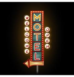 Neon sign motel vector image